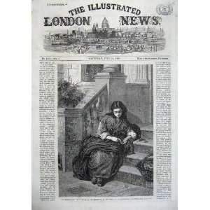 1867 Flower Girl House Doorstep Basket Fine Art Lucas