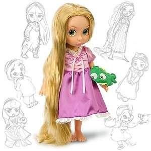 Disney Princess Tangled Rapunzel Toddler Baby Doll 16 W/ Plush Friend