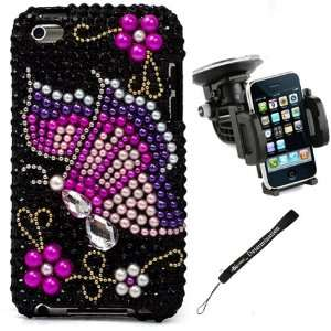Tri Color Butterfly Luxury Design Premium Crystal Rhinestone Cover