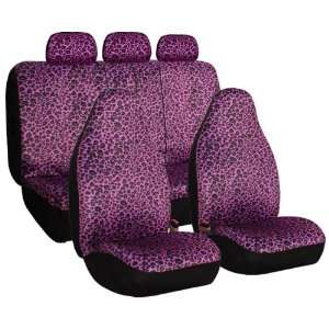 Leopard Car Seat Covers, Airbag compatible and Split Bench Automotive