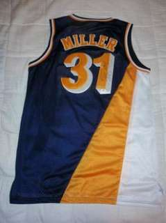 REGGIE MILLER INDIANA PACERS NBA AUTO AUTOGRAPHED SIGNED BLUE JERSEY