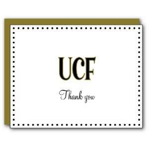 Palm Tree Paperie UCF Knights Polka Dot Thank You Note Cards, 10 Count
