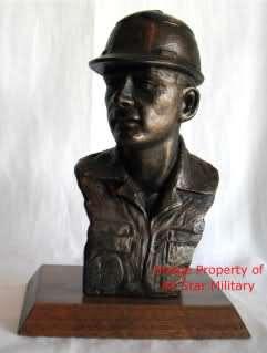 US Air Force Bronze Bust Trophy Award Sculpture Retirement Gift
