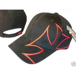BLACK & RED GIANT CROSS DESIGN BASEBALL CAP CAPS HAT HATS