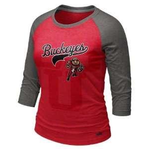 Ohio State Buckeyes Womens Heather Red Nike Vault Retro