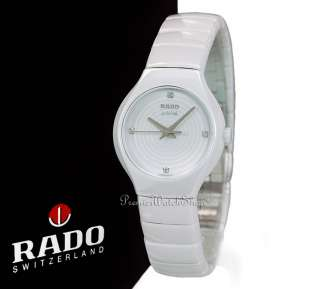 NEW RADO TRUE JUBILE R27696712   WHITE CERAMIC LADIES DIAMOND WATCH