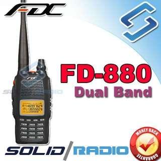 FDC FD 880 Dual Band 136 174 400 480Mhz 2 way handheld portable Radio