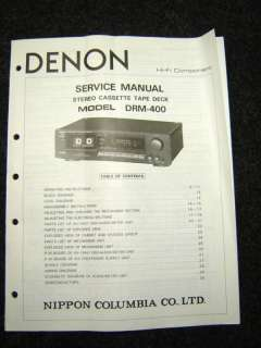 Original Denon DRM 400 Service Manual