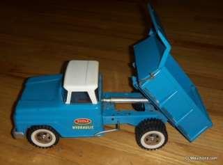 *** Tonka Blue Hydraulic Dump Truck No. 520 With Original Box   NR