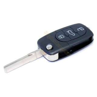 Buttons Remote Flip Folding Car Key Shell Case For Audi A4 A6 A8 TT