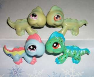 /LIZARD LOT~#906 29 1829 #NO PURPLE EYES~Littlest Pet Shop T97