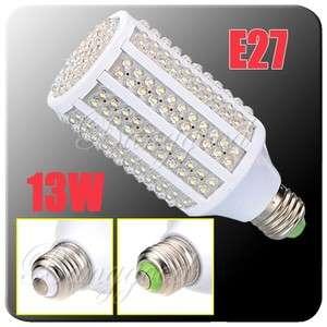 E27 13W 263 LED Pure White Energy Saving High Power Corn Light Lamp