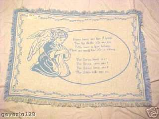 Pure Country baby afghan with boy angel praying.