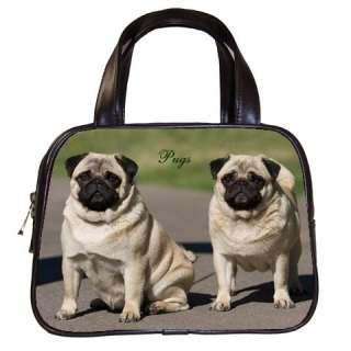 PUG DOG PUPPY PUPPIES WOMENS LEATHER HANDBAG BAGS