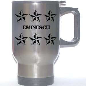Personal Name Gift   EMINESCU Stainless Steel Mug (black
