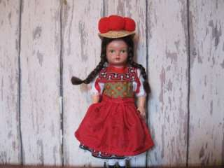 German Gura Gutach Black Forest Doll Vintage