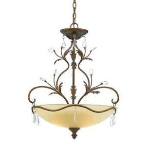 Evelyn Collection 24 Wide Bronze Pendant Chandelier