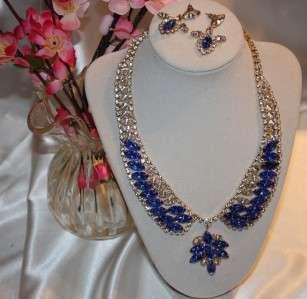 Spectacular JULIANA (D&E) Delizza & Elster Sapphire Blue & Rhinestone