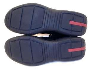 Prada Mens Black High Top Sneakers Dress Shoes Boots / Prada Size 8