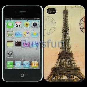 Eiffel Tower Postmark Hard Cover Case Skin for Apple iPhone 4 4G 4S