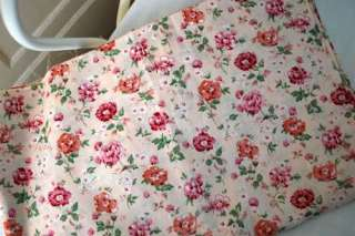 Shabby Chic Cotton Fabric   Rose Flower   Pink   FQ