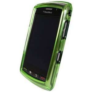 Verizon GREEN Plastic Snap On Hard Case Cover Shell for Blackberry
