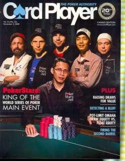 2008 Card Player Magazine Poker Stars   World Series
