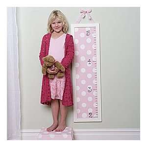Pink Polka Dotted Growth Chart Baby
