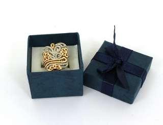 PIERO MILANO SIGNED 18K 2 TONE GOLD & DIAMONDS FANCY RING NWT BOX