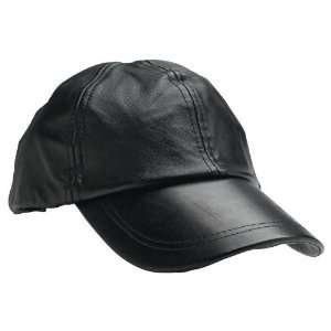 Leather Baseball Cap By Giovanni Navarre® Solid Genuine Leather