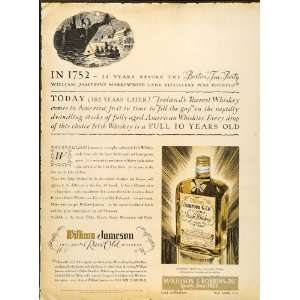 1935 Ad William Jameson Irish Whiskey McKesson Robbins