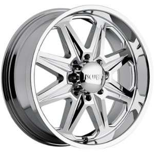 Incubus Grim 22x9 Chrome Wheel / Rim 8x170 with a 25mm Offset and a