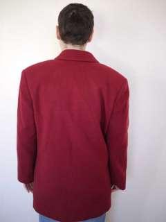 Vintage PENDLETON Knockabout 100% Virgin WOOL Red BLAZER Jacket COAT
