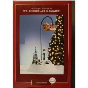 St Nicholas Square Flying Santa By (Mr Christmas): Home