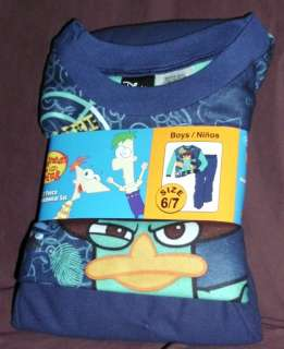 NWT Boys 2pc Flannel Pajamas Mario Bros or Phineas & Ferbs Perry New