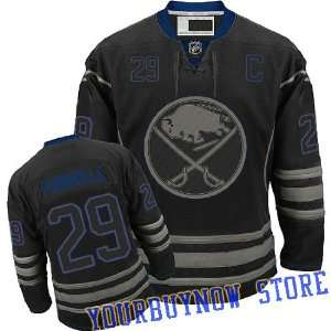 Sabres Black Ice Jersey Hockey Jersey (Logos, Name, Number are sewn