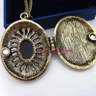 Vintage Antique gold ring locket real solid necklace
