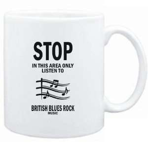 Mug White  STOP   In this area only listen to British