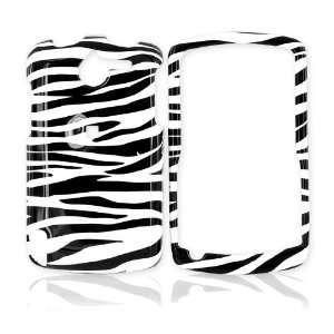 for HP IPAQ Glisten Hard Case Cover White Black Zebra