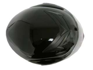 SOLID GLOSS BLACK DOT MODULAR FULL FACE FLIP UP MOTORCYCLE STREE BIKE