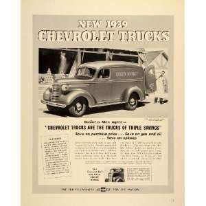1939 Ad General Motors Chevrolet Trucks Thrift Carriers