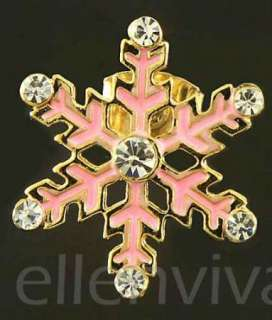 Snowman Christmas Xmas Gift Earrings Pink and Gold Tone eg252pk