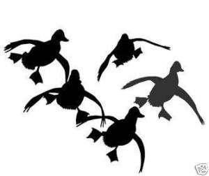 FLYING DUCKS LANDING 5 Hunting Decals VINYL STICKERS