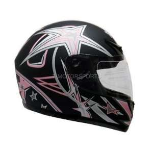 FLAT PINK FULL FACE MOTORCYCLE HELMET SPORT BIKE STAR(&HY
