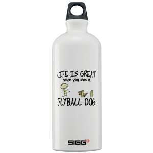 Life is Great Flyball Pets Sigg Water Bottle 1.0L by
