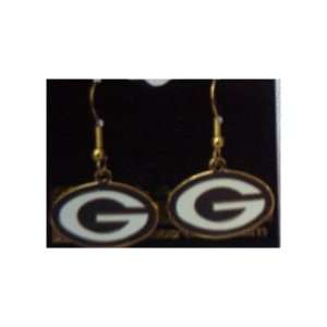 Green Bay Packers Logo Earrings:  Sports & Outdoors