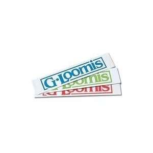 G. Loomis Neon Green 8 Block Logo Window Sticker
