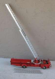 1950 DOEPKE AMERICAN LA FRANCE FIRE AERIAL LADDER TRUCK #2008 w/ SIREN