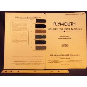 1939 PLYMOUTH Paint Colors Chip Page Chrysler Cororation