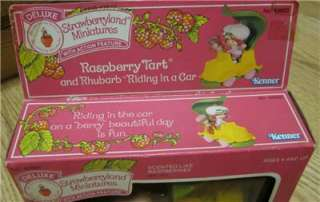 RARE Vintage Strawberry Shortcake Deluxe Mini PVC Raspberry Tart